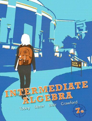 Intermediate Algebra  7th 2013 (Revised) edition cover