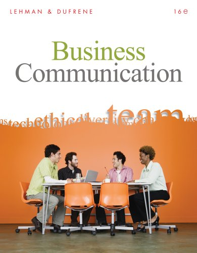 Business Communication  16th 2011 edition cover