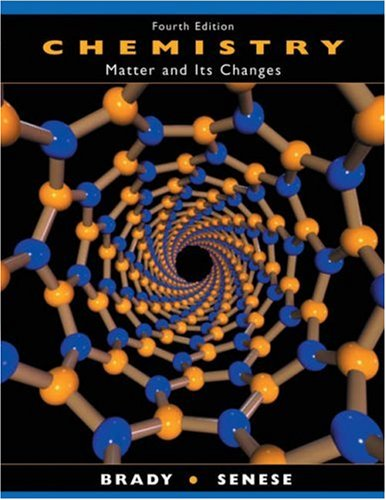 Chemistry The Study of Matter and Its Changes 4th 2004 (Revised) 9780471215172 Front Cover