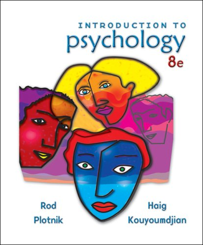 Introduction to Psychology  8th 2008 9780495103172 Front Cover