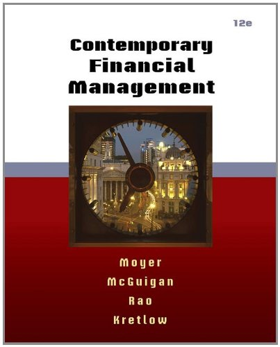 Contemporary Financial Management  12th 2012 9780538479172 Front Cover