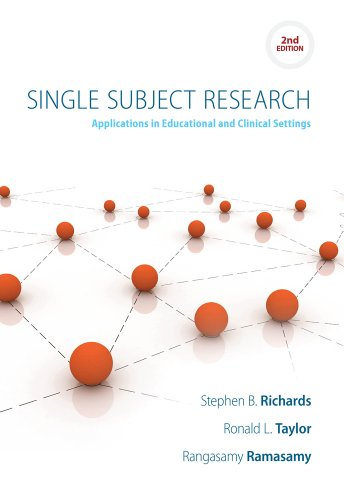 Single Subject Research: Applications in Special Education, Community, and Clinical Settings  2013 edition cover