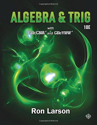 Cover art for Algebra & Trig, {10th Edition