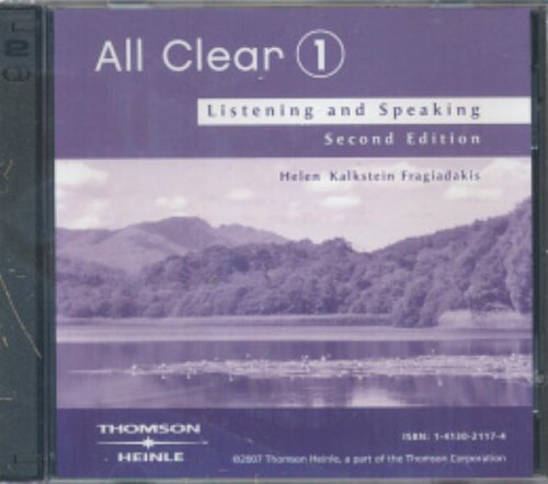 All Clear 1: Listening and Speaking 2nd 2006 edition cover
