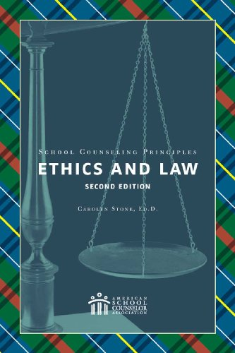 School Counseling Principles Ethics and Law 2nd 2009 edition cover