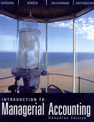 INTRO.TO MANAGERIAL ACCT.>CANA 1st edition cover