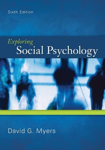 Exploring Social Psychology  6th 2012 edition cover