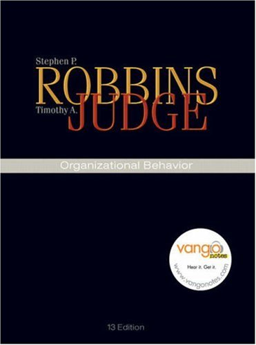 Organizational Behavior  13th 2009 edition cover