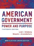 American Government: Power & Purpose: 2014 Election Update  2015 edition cover