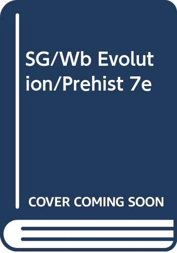 Sg/Wb Evolution/Prehist 7e  7th 2005 9780534610173 Front Cover