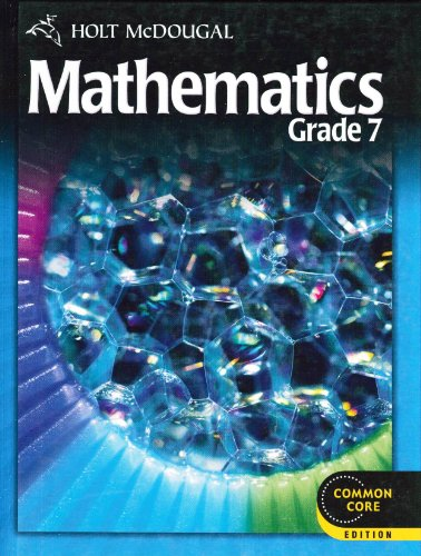 Holt McDougal Mathematics , Grade 7   2011 9780547647173 Front Cover
