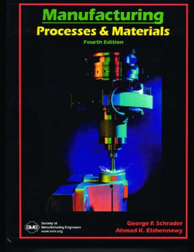 Manufacturing Processes and Materials  4th 2000 edition cover