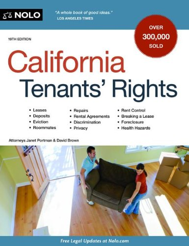 California Tenants' Rights  19th 2013 edition cover