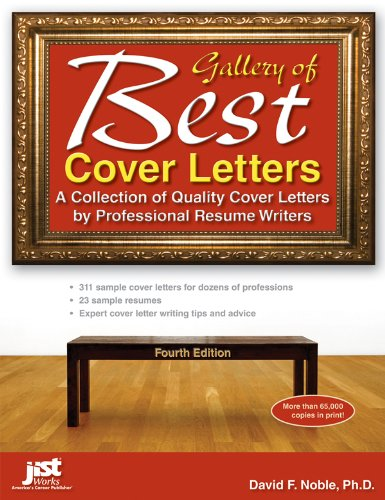 Gallery of Best Cover Letters A Collection of Quality Cover Letters by Professional Resume Writers 4th 2012 edition cover