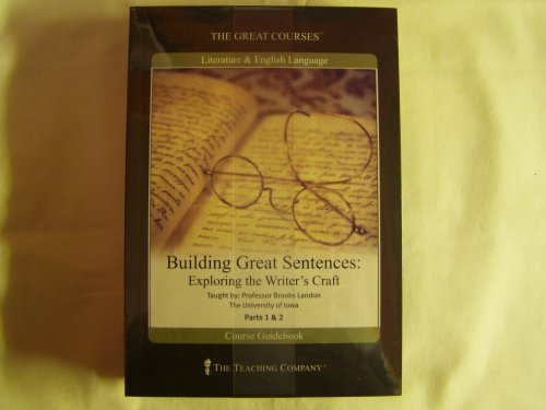 The Teaching Company: Building Great Sentences: Exploring the Writer's Craft DVD course number 2368 System.Collections.Generic.List`1[System.String] artwork