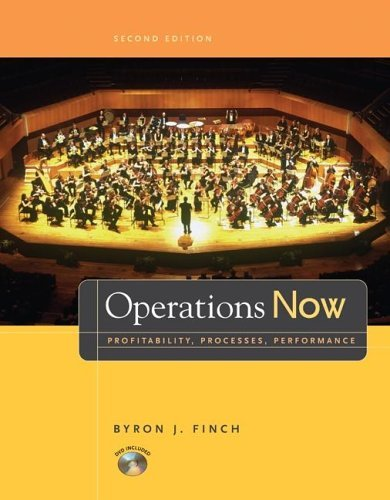 Operations Now Profitability, Process, Performance with Student DVD 2nd 2006 (Revised) edition cover