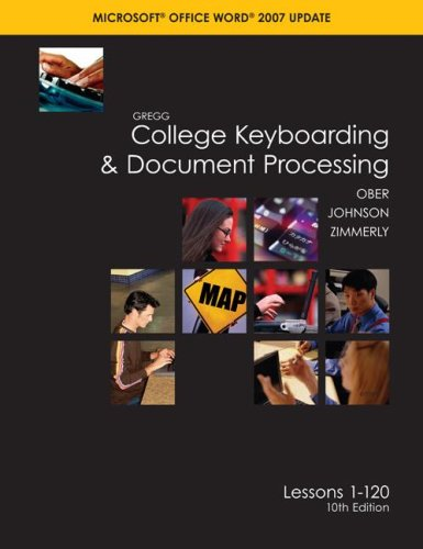 College Keyboarding and Document Processing Microsoft Office Word 2007 10th 2008 (Revised) 9780073372174 Front Cover