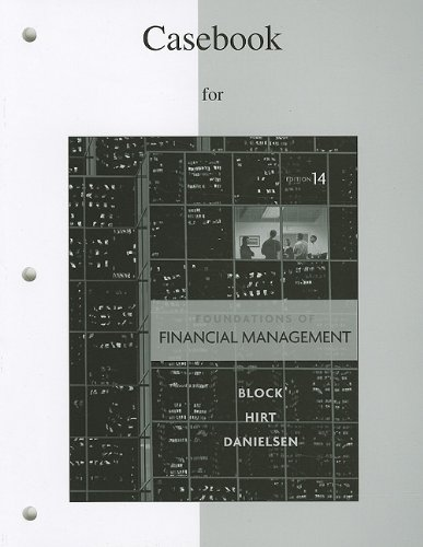 Foundations of Financial Management  14th 2011 edition cover