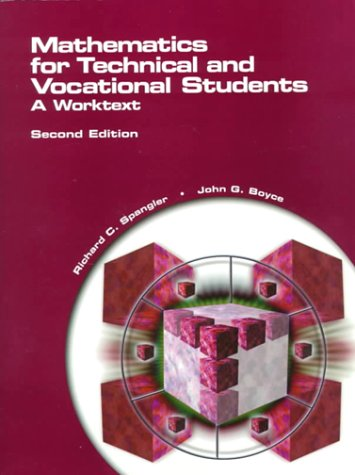 Mathematics for Technical and Vocational Students A Worktext 2nd 2000 edition cover