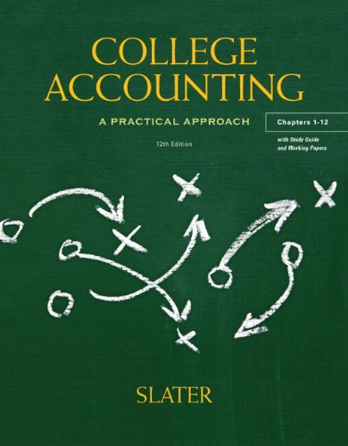College Accounting Chapters 1-12 with Study Guide and Working Papers  12th 2013 (Revised) edition cover