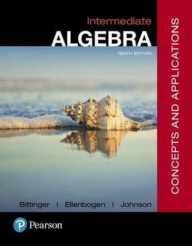 Intermediate Algebra: Concepts & Applications  2017 9780134497174 Front Cover