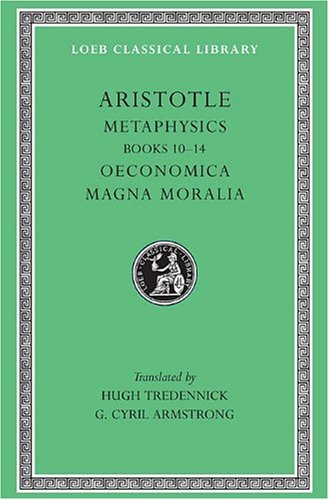 Metaphysics Oeconomica, Magna Moralia  1935 edition cover