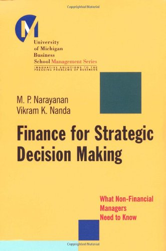 Finance for Strategic Decision-Making What Non-Financial Managers Need to Know  2003 9780787965174 Front Cover