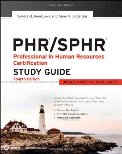 PHR/SPHR Professional in Human Resources Certification 4th 2012 9781118289174 Front Cover