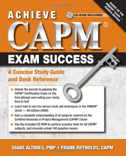 Achieve Capm Exam Success Desk Reference  2010 (Student Manual, Study Guide, etc.) edition cover