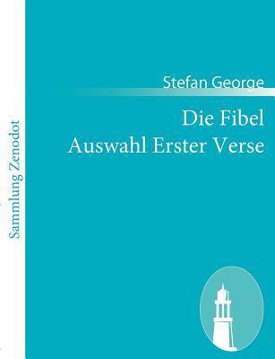 Die Fibel Auswahl Erster Verse   2010 9783843053174 Front Cover