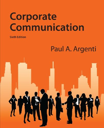 Corporate Communication  6th 2013 edition cover