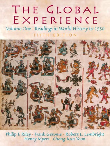 Global Experience Readings in World History to 1550 5th 2006 (Revised) edition cover