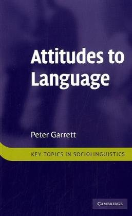 Attitudes to Language   2010 9780521759175 Front Cover