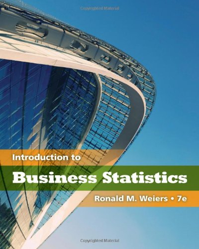 Business Statistics  7th 2011 9780538452175 Front Cover