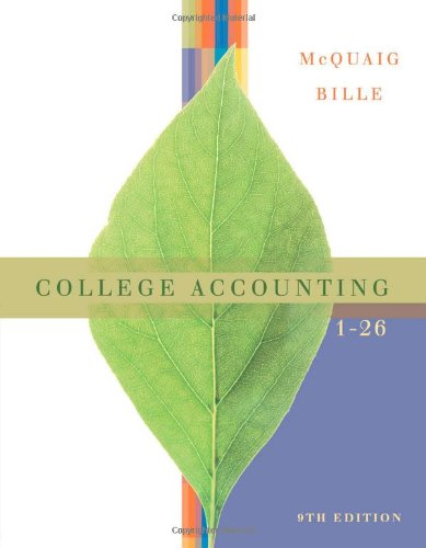 College Accounting Chapters 1 - 26 9e  9th 2008 9780618824175 Front Cover