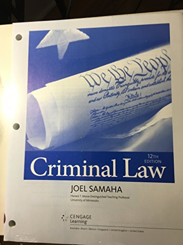Criminal Law:   2016 9781305660175 Front Cover