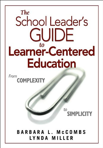 School Leader's Guide to Learner-Centered Education From Complexity to Simplicity  2009 edition cover