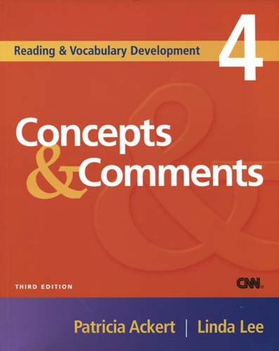 Reading and Vocabulary Development 4: Concepts and Comments  3rd 2005 (Revised) 9781413004175 Front Cover