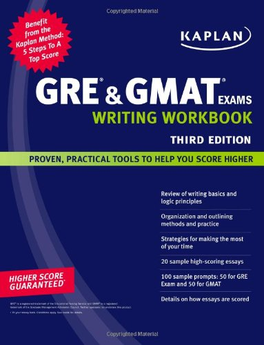 Kaplan GRE and GMAT Exams Writing Workbook  3rd 2008 (Workbook) edition cover