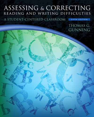 Assessing and Correcting Reading and Writing Difficulties Plus NEW MyEducationLab with Pearson EText -- Access Card  5th 2014 edition cover