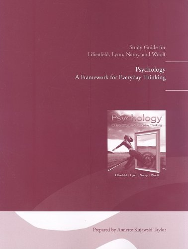 Study Guide for Psychology A Framework for Everyday Thinking  2010 9780205757176 Front Cover