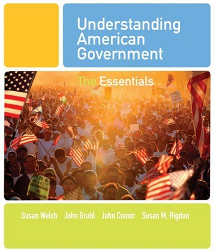 Understanding American Government The Essentials  2009 edition cover