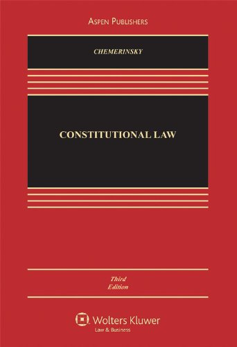 Constitutional Law, Third Edition  3rd 2009 (Revised) edition cover