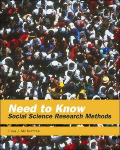 Need to Know Social Science Research Methods  2005 edition cover
