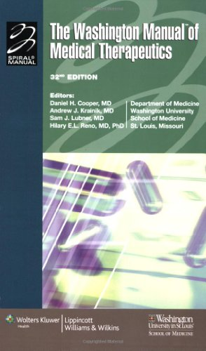 Washington Manual� of Medical Therapeutics  32nd 2007 (Revised) 9780781765176 Front Cover