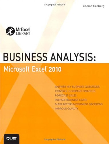 Business Analysis Microsoft Excel 2010 4th 2011 edition cover