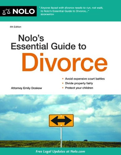 Nolo's Essential Guide to Divorce  4th 2012 (Revised) edition cover