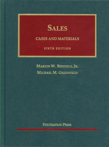 Cases and Materials on Sales  6th 2011 (Revised) edition cover