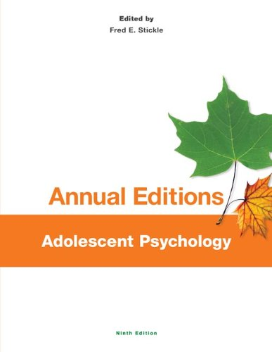 Adolescent Psychology:   2013 edition cover