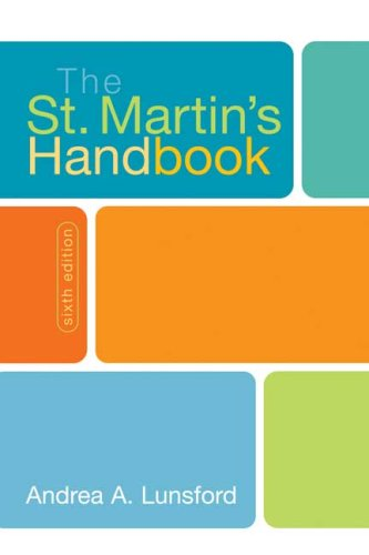 St. Martin's Handbook  6th 2008 edition cover
